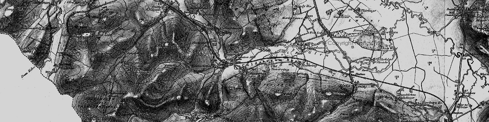 Old map of Yeavering Bell in 1897