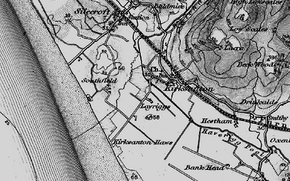 Old map of Kirksanton in 1897