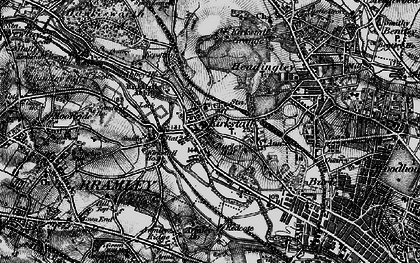 Old map of Kirkstall in 1898