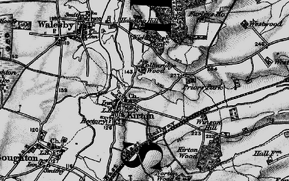 Old map of Laxton Common in 1899