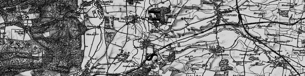 Old map of Winson Hill in 1899