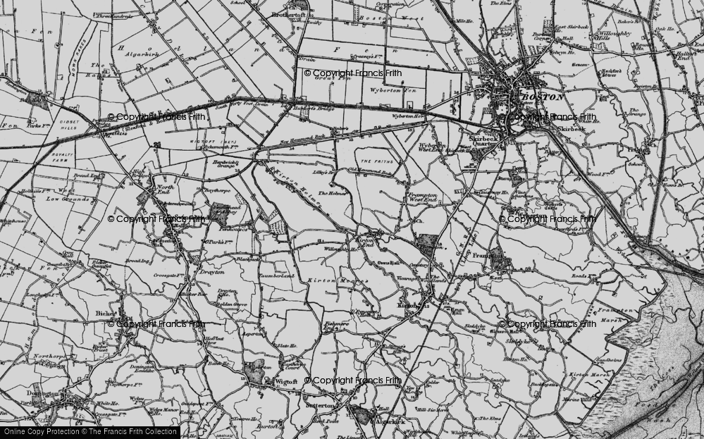 Old Map of Historic Map covering Baker's Br in 1898