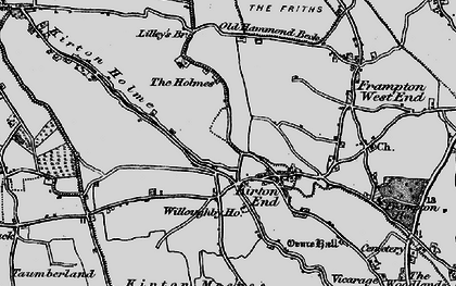Old map of Baker's Br in 1898