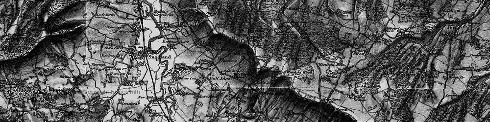 Old map of White Horse Stone in 1895