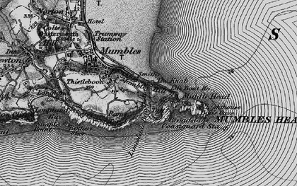 Old map of Limeslade Bay in 1897