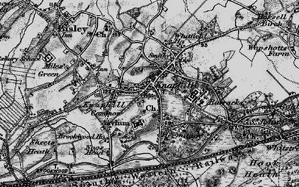Old map of Knaphill in 1896