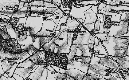 Old map of Averham Park in 1899