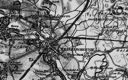 Old map of Knaresborough in 1898