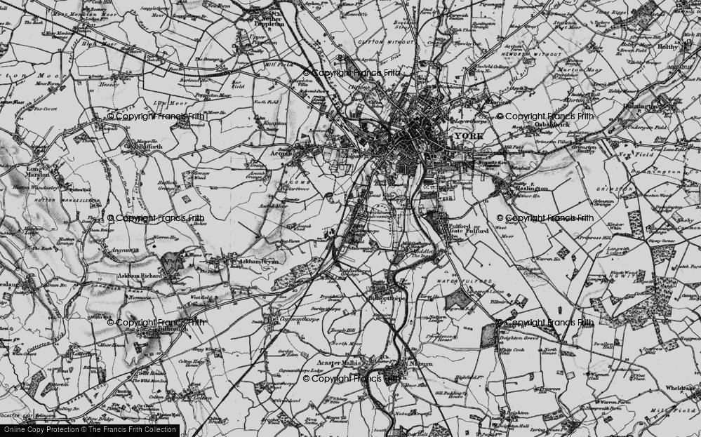 Old Map of Knavesmire, 1898 in 1898