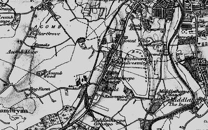 Old map of Knavesmire in 1898