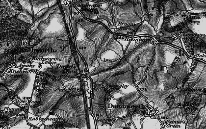 Old map of Knebworth in 1896