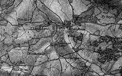 Old map of Knelston in 1896