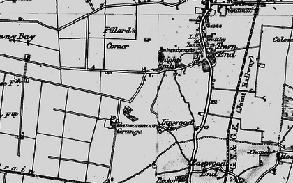 Old map of Linwood Ho in 1898