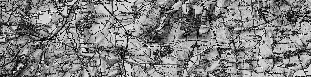 Old map of Whitfield Woods in 1898