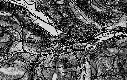 Old map of Knighton in 1899