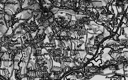 Old map of Knighton on Teme in 1899