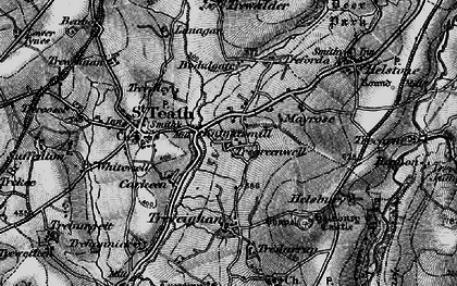 Old map of Knightsmill in 1895