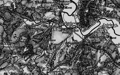 Old map of Knightwick in 1898