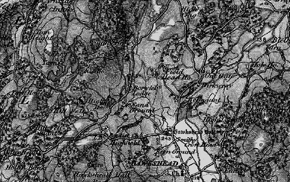 Old map of Yew Tree Tarn in 1897