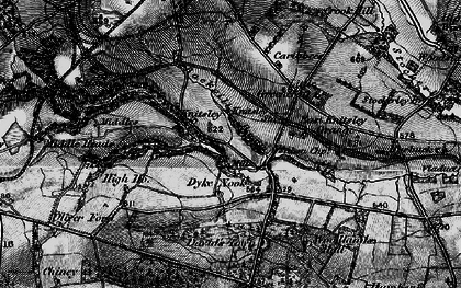 Old map of Backgill Burn in 1898