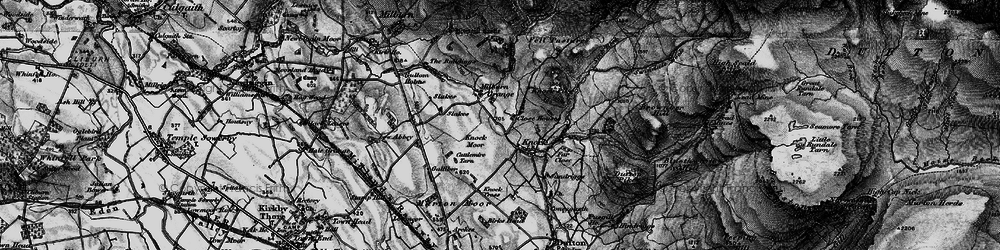Old map of Knock in 1897