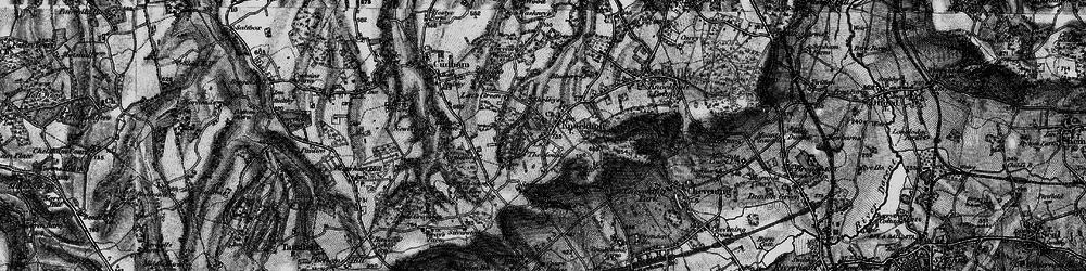 Old map of Knockholt in 1895