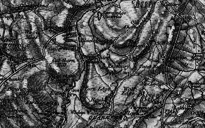 Old map of Whetstone Ridge in 1896