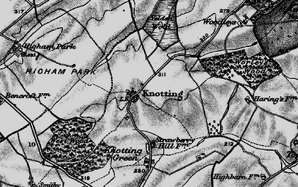 Old map of Yelden Wold in 1898