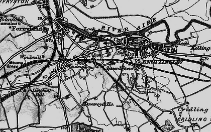 Old map of Knottingley in 1895