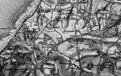 Old map of Westacott in 1895