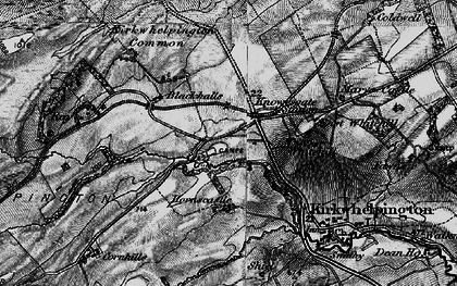 Old map of Larkhall in 1897