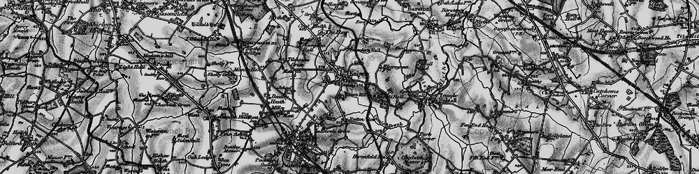 Old map of Knowle in 1899