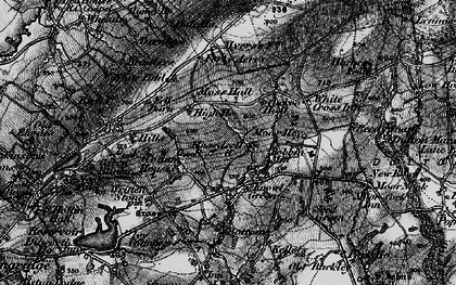 Old map of White Fold in 1896