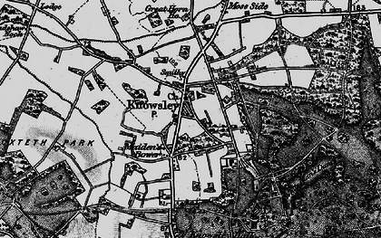 Old map of Knowsley in 1896