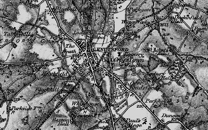 Old map of Knutsford in 1896