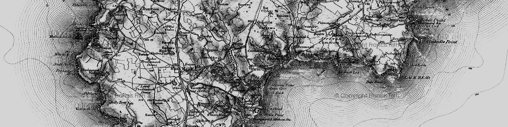 Old map of Kennack Sands in 1895