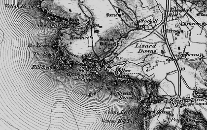 Old map of Asparagus Island in 1895