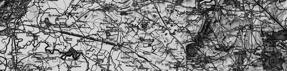 Old map of Wolfshead in 1899