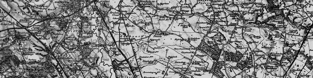 Old map of Allostock Hall in 1896