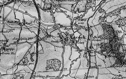 Old map of Lacock in 1898