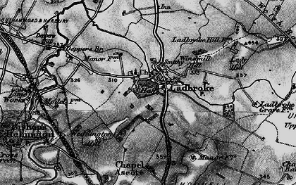 Old map of Windmill Hill in 1898