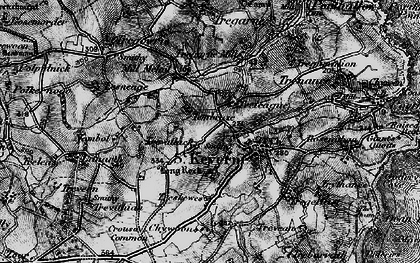 Old map of Laddenvean in 1895