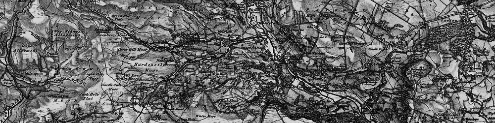 Old map of Mosscarr in 1898