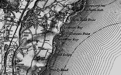 Old map of Ladram Bay in 1897