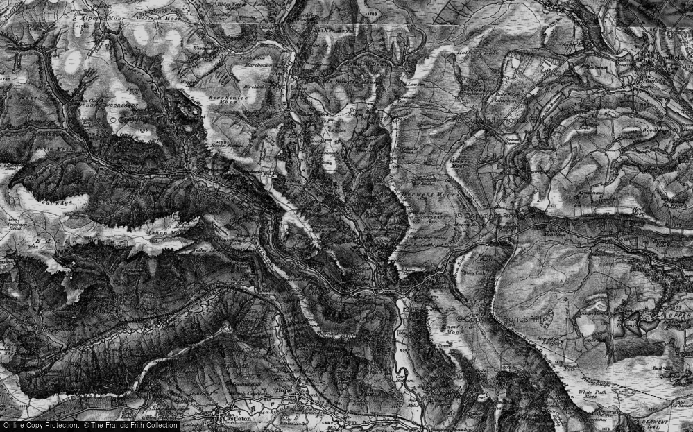Old Map of Historic Map covering White Tor in 1896