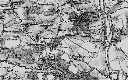 Old map of Ladycross in 1895