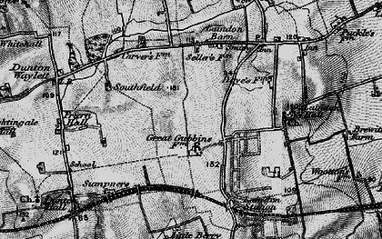 Old map of Laindon in 1896