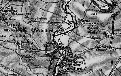 Old map of Wilsford Group in 1898