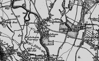 Old map of Abbey Chase in 1896