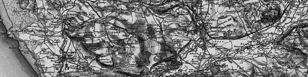 Old map of Laleston in 1897